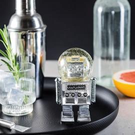 Boule à neige silver robot