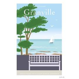 """Affiche encadrée """"Granville..."""