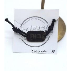Bracelet plaque Papa cool