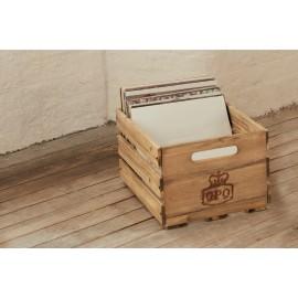 Caisse vinyles en bois