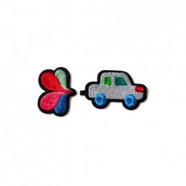 Ecussons auto + fleur Macon...