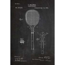 Affiche brevet raquette de...