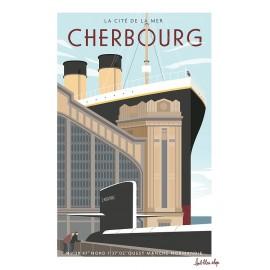 Affiche encadrée : Cherbourg
