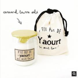 Bougie pot de yaourt au...