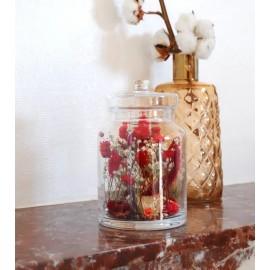 Bonbonnière de fleurs séchées