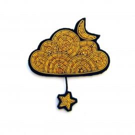 Broche nuage doré Macon &...